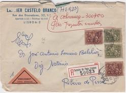 PORTUGAL REGISTERED  COVER - LISBOA To RIBEIRA DE PENA - COBRANÇA - Maximum Cards & Covers