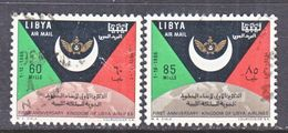 LIBYA  C 59-60   (o)   FLAG  GLOBE - Libya