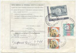 1992 COLOMBO L. 5000 ANGOLO FOGLIO BOLLETTINO PACCHI 1.9.92 OTTIMA QUALITÀ (A924) - 1946-.. République