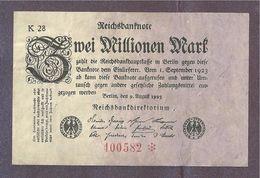 Germany 2 Million Mark 1923 - [ 3] 1918-1933 : Repubblica  Di Weimar