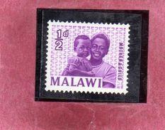 MALAWI 1964 1965 MOTHER & CHILD MADRE E FIGLIO 1/2p MNH - Malawi (1964-...)