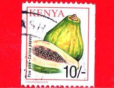 KENIA - Usato - 2001 - Frutta - Fruit - Papayas - Carica Papaya - 10/- - Kenia (1963-...)
