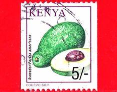 KENIA - Usato - 2001 - Frutta - Fruit -  Avocado - Persea Americana - 5/- - Kenia (1963-...)