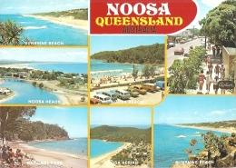 AU - Noosa - Multivues (7) : Noosa Heads, Hastingstreet, Sunshine Beach, Aerial View, National Park... (circ. 1989) - Australia