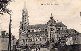 Vitré Animée Belle Vue De L'Eglise Saint-Martin - Autres Communes