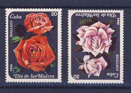 CUBA 1984 ROSES  YVERT N°2544/45  NEUF MNH** - Nuevos