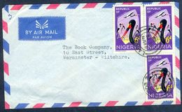 G18- Postal Used Cover. Posted From Nigeria To Wiltshire. Birds. 1965 Fauna Tiere Storch. - Nigeria (1961-...)