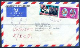 G20- Postal Used Cover. Posted From Nigeria To England. UK. 1973 20k Definitive Vaccine Production. - Nigeria (1961-...)
