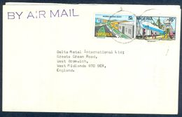 G26- Postal Used Cover. Posted From Nigeria To England. UK. - Nigeria (1961-...)