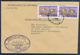 G34- Postal Used Cover. Posted From Nigeria To England. UK. Animals. Leopard. - Nigeria (1961-...)