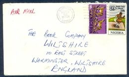 G35-  Postal Used Cover. Posted From Nigeria To England. UK. Animals. Leopard.  Mascow Olympic Games. - Nigeria (1961-...)