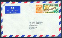 G36- Postal Used Cover. Posted From Nigeria To England. UK. Animals. Leopard. Camal. - Nigeria (1961-...)