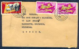 G37- Postal Used Cover. Posted From Nigeria To England. UK. Animals. Leopard. Elephant. - Nigeria (1961-...)