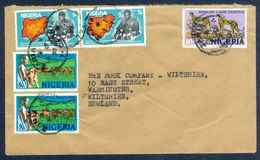 G44- Postal Used Cover. Posted From Nigeria To England. UK. Animals. Leopard. - Nigeria (1961-...)