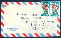 G46-  Postal Used Cover. Posted From Nigeria To England. UK. Tecoma Stans Floewr. - Nigeria (1961-...)