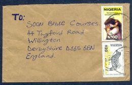 G52- Postal Used Cover. Posted From Nigeria To England. UK. Animals. Zebra. - Nigeria (1961-...)