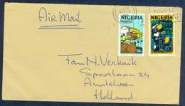 G54- Postal Used Cover. Posted From Nigeria To Holland. Fishing Festival. Palm Oil. - Nigeria (1961-...)