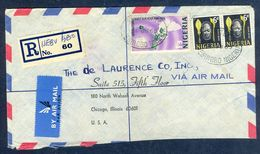 G58- Postal Used Cover. Posted From Nigeria To USA. Flower. - Nigeria (1961-...)