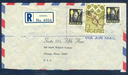 G63- Postal Used Cover. Posted From Nigeria To UAS. Olympian Games Tokyo 1964. Benin Mask. - Nigeria (1961-...)