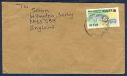 G65- Postal Used Cover. Posted From Nigeria To England. UK. Rotary International. Map. - Nigeria (1961-...)