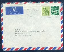 G70- Postal Used Cover. Posted From Nigeria To Netherlands. Birds. Hornbill. Oyo Carver. - Nigeria (1961-...)