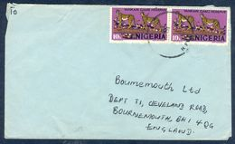 G73- Postal Used Cover. Posted From Nigeria To England. UK. Animals. Leopard. - Nigeria (1961-...)