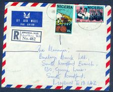 G75- Postal Used Cover. Posted From Nigeria To England.UK. Palm Oil. Medical. - Nigeria (1961-...)