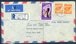 G77- Postal Used Cover. Posted From Nigeria To USA. Fauna Tiere Storch. Camel. Animals. - Nigeria (1961-...)