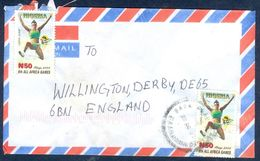 G79- Postal Used Cover. Posted From Nigeria To England.UK. 8th All Africa Games. Long Jump. - Nigeria (1961-...)
