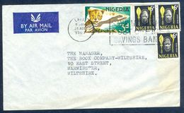 G84- Postal Used Cover. Posted From Nigeria To England. UK. Animals. Leopard. Benin Mask. - Nigeria (1961-...)
