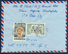 G86-  Postal Used Cover. Posted From Nigeria To England. UK. Timber. Ief Bronze. Bornu Horsmen. - Nigeria (1961-...)