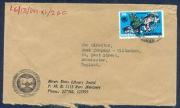 G87-  Postal Used Cover. Posted From Nigeria To England. UK. - Nigeria (1961-...)