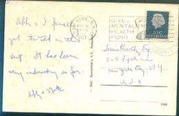 G114- Postal Used Post Card. Posted From Nederlands To USA. United State Of America. - Covers & Documents