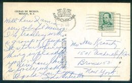 G116- Postal Used Post Card. Posted From Mexico To USA. United State Of America. - Mexico