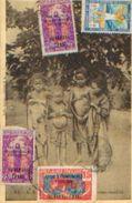 OUBANGUI - CHARI  Avec Divers Timbres – Ed. Artistiques P. Barreau, Bordeaux (1933) - Cartes Postales