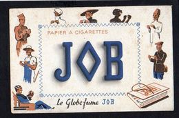 """Buvard Publicitaire JOB Papier à Cigarettes """"Le Globe Fume JOB """" - Tabac & Cigarettes"""