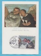 FRANCE N° 1494 (YT) SUR CARTE MAXIMUM  TABLEAU DE DAUMIER  1966 - Cartas