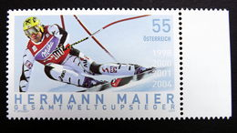 Österreich 2497 **/mnh, Hermann Maier (*1972), Gesamtweltcupsieger, Weltmeister Und Olympiasieger - 1945-.... 2ème République