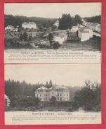 """Habay-la-Neuve - Rue De Châtelet Et Châtelet-bas - 2 Cartes Postales ...collec """" La Belgique Historique""""  ( Voir Verso ) - Habay"""