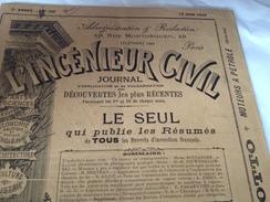 L'INGENIEUR CIVIL, 1896 , Journal D'application Et De Vulgarisation Des Découvertes Les Plus Récentes - Journaux - Quotidiens