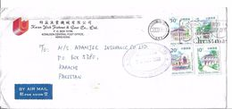 Hong Kong Airmail 1999 Legislative Council Building, Museum Of Tea Ware, St. John's Cathedral, Aw Boon Haw Gardens - Covers & Documents
