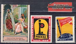 ECRITURE / PRESSE / LIVRES / STYLO WATERMAN - Commemorative Labels