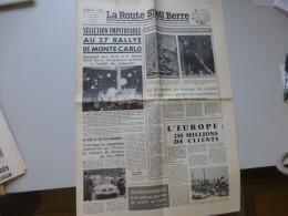 La Route Shell Berre N°26, Fev 1958, Rallye Monte-Carlo Etc  ; Ref 318 G 22 - Journaux - Quotidiens