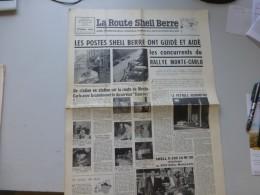 La Route Shell Berre N°2 Fev 1956, Rallye Monte-Carlo, 403 Peugeot, Etc  ; Ref 323 G 22 - Journaux - Quotidiens