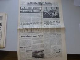 La Route Shell Berre N°23 Nov 1957, 44è Salon Auto, Vespa 400,  Etc  ; Ref 336 G 22 - Journaux - Quotidiens