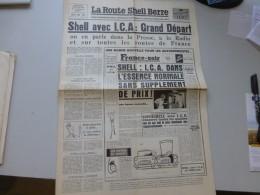 La Route Shell Berre N°19 Juil 1957, Grands Départsmotocycles, Tour France Cycliste,  Etc  ; Ref 337 G 22 - Newspapers
