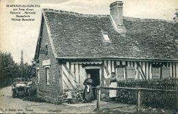 N°53907 -cpa St Gervais Des Sablons -épicerie-mercerie- - France