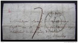 1839 Lettre à Surrel De Montchamp Capitaine Au 11eme Régiment D'infanterie De Ligne à Toulon - Manuscripts