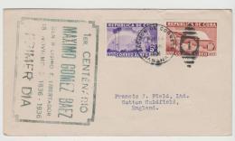 Cu042 / Kuba, Flugpost Ausgabe General Gomez 1936 Als FDC Nach UK - Kuba