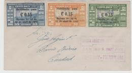 CR024 / Costa Rica, Brief Mit Fussballausgabe Von 1946 Mit Wertaufdruck 1947 Auf  FDC - Costa Rica
